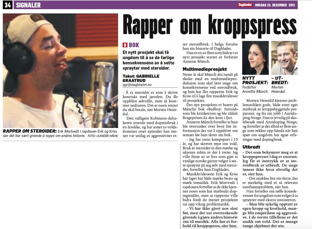 Badboy Erik og Kriss Dagbladet print
